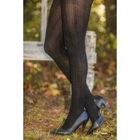Straight Laced Tights-Black