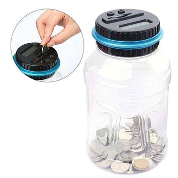 Digital Coin Bank Savings Jar Automatic Coin Counter Piggy Bank Large Capacity Money Saving Box with LCD Display