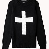 Chunky Knit Cross Sweater (Kids)