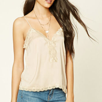 Contemporary Lace Trim Cami