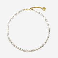 usual moon pendant small pearl necklace > 귀걸이 | 힙합퍼