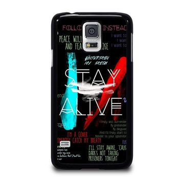 twenty one pilots stay alive samsung galaxy s5 case cover  number 2