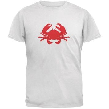 DCCKJY1 Summer - Crab Faux Stitched White Youth T-Shirt