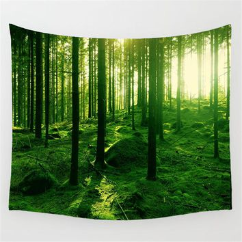 Forest Rectangular tapestry Indian Mandala Tapestry Hippie Wall Hanging Digital printing beach towels sunscreen square shawl