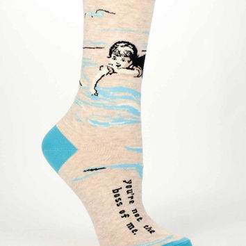 You're Not The Boss Of Me Women's Crew Socks