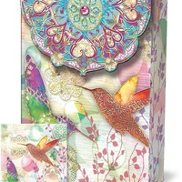 Romantic Pouch Note Cards - Hummingbird