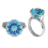 "SR-7993-BT-5"" Sterling Silver Ring With Blue Topaz"