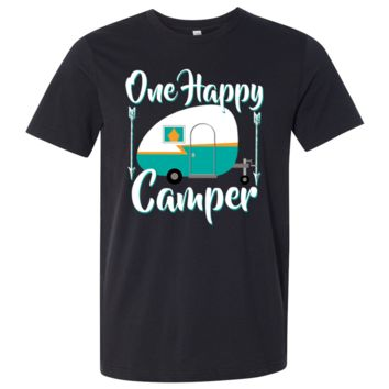 Happy Camper Asst Colors Mens Lightweight Fitted T-Shirt/tee