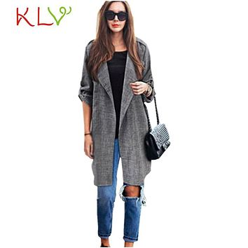 2017 Atumn New Womens Open Front Coat Long Cloak Jackets Overcoat Waterfall Plus Size Simple Wide-waisted Open Stitch !4