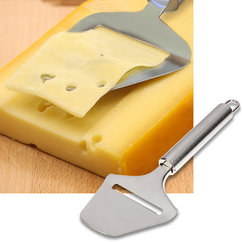 Stainless Steel Cheese Plane Slicer Cheese Butter Grater Cutter Cheese Cake Knife For Cooking Kitchen Tools Silver Color