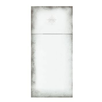 Antiqued Trumeau Mirror with Etched Star