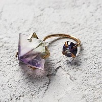 Aoko Su Womens Fluorite Two Moons Ring