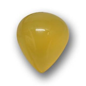 5.54 ct  Pear Cabochon Yellow Agate 13 x 11.1 mm