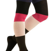 Betsey Johnson Colorblock With Confidence Tights | Mod Retro Vintage Tights | ModCloth.com