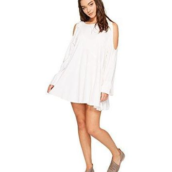 Free People Womens Clear Skies Tunic Cold Shoulder Blouse