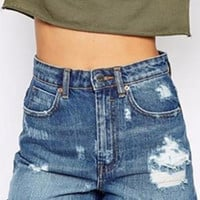 Modern Glory Distressed Jean Denim Shorts