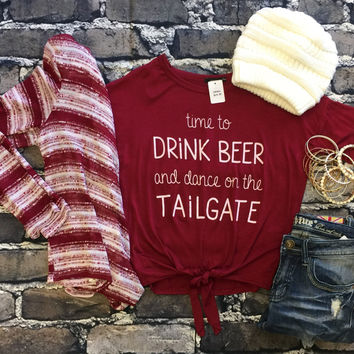 Time to Drink & Dance on the Tailgate: Burgundy