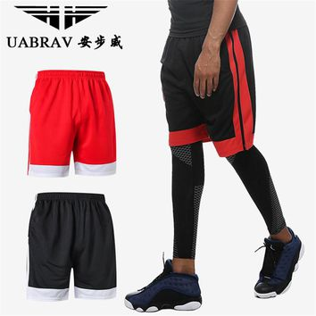 UABRAV Soccer Shorts Polyester Men Sportswear Sports Clothing Breathable Quick-dry Running Basketball Shorts Loose Sport Shorts