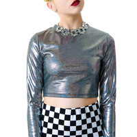 Everland Romy Holographic Crop Top