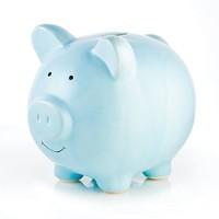 Pearhead Solid Piggy Bank - Blue