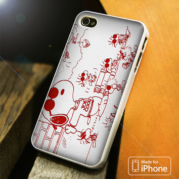 Snoopy Joe Cool Red And White iPhone 4 5 5C SE 6 Plus Case