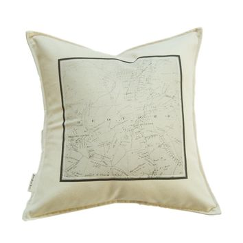 18x18 Bedford NY Map Pillow