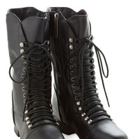 ModCloth Military Into the Night Boot