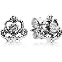 Pandora My Princess Earrings with CZ