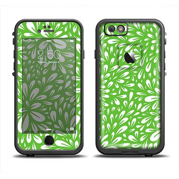 The Light Green & White Floral Sprout Apple iPhone 6 LifeProof Fre Case Skin Set