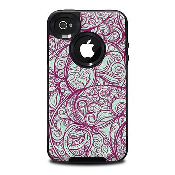 The Vector Purple Thin Laced Skin for the iPhone 4-4s OtterBox Commuter Case