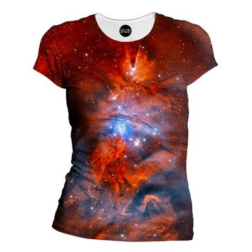 Red Nebula Womens T-Shirt