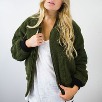 Bombs Away Fleece Bomber Jacket