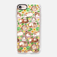 Guinea Pigs and Daisies in Watercolor on transparent iPhone 7 Case by Micklyn Le Feuvre | Casetify