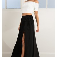 Break A Leg Maxi Skirt in Black