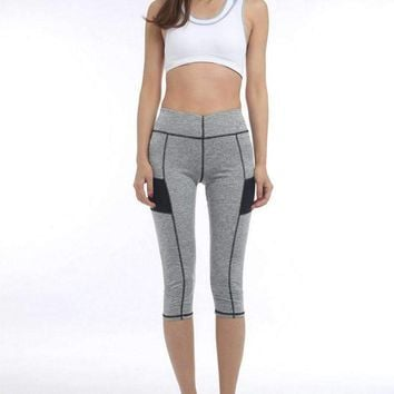 High Waist 3/4 Sport Leggings