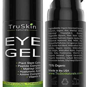 Eye Gel For Wrinkles, Fine Lines, Dark Circles, Puffiness And Bags, 75% ORGANIC