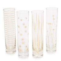Assorted Set of 4 Champagne Flutes