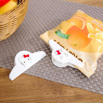 2pcs/lot Japan sanrio hello kitty  food bag moisture proof sealing clip refrigerator food and snacks clip