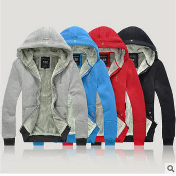 Men Cotton Zippers Hoodies Jacket [6528872451]