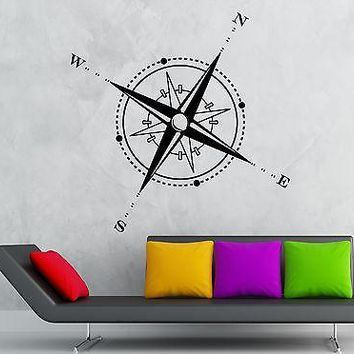Wall Sticker Vinyl Decal Travel Geography Compass Windrose Unique Gift (ig1219)