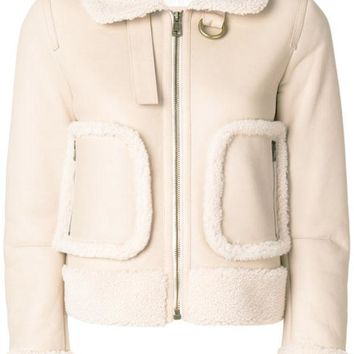 ONETOW Chloé Shearling Aviator Jacket - Farfetch