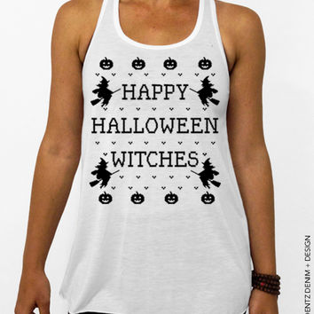 Happy Halloween Witches – Flowy Tank Top