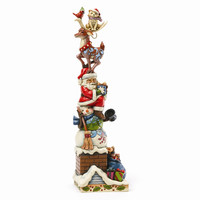 Jim Shore Stacked Christmas Figurine - Perfect Christmas Gift