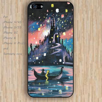iPhone 5s 6 case castle tangled lanterns up cartoon colorful phone case iphone case,ipod case,samsung galaxy case available plastic rubber case waterproof B578