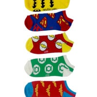 DC Comics Logo No-Show Socks | Hot Topic