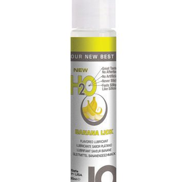 System Jo H2o Flavored Lubricant - 1 Oz Banana
