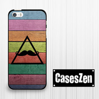 iPhone 6 iPhone 6 Plus iPhone 5s 5c Case, Colorful rainbow wood print Mustache Lg G3 Sony Xperia Z3 Moto G Moto X Moto E Samsung Note 4 S5