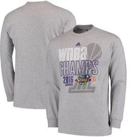 Licensed Sports Los Angeles Sparks adidas 2016 WNBA Finals Champions Long Sleeve T-Shirt - Gray KO_20_2