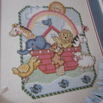 Noah's Ark Baby Cross Stitch Designs Pattern Book by Leisure Arts