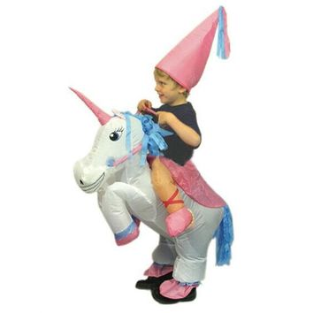 Halloween Costume For Kids Children Unicorn Inflatable Costume Funny Carnival Costumes Christmas Party costume for kids